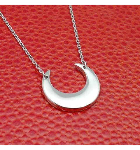Colgante plata luna