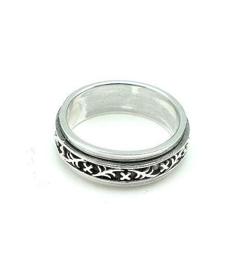 Anti-stress silver ring