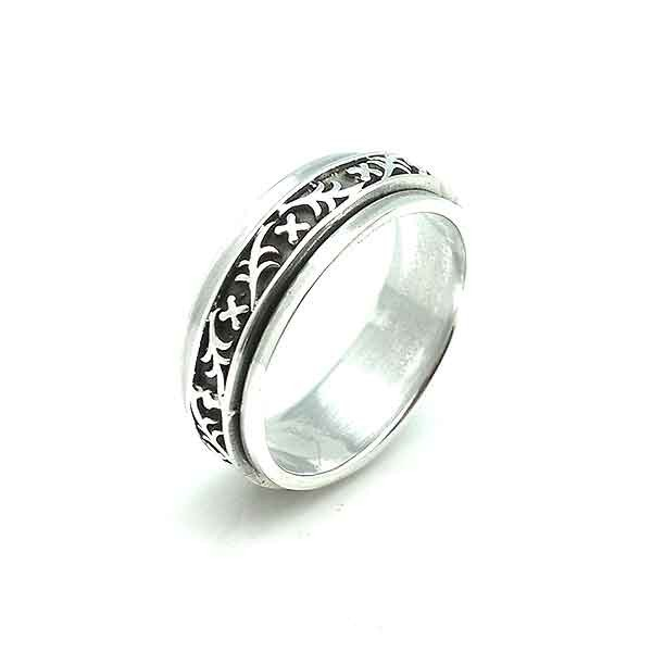 Anti-stress silver ring