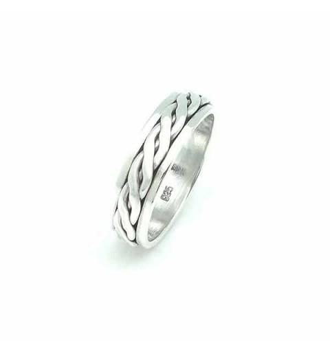 Silver anti-stress ring