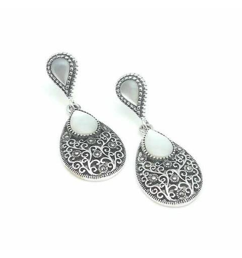 White nacre earrings