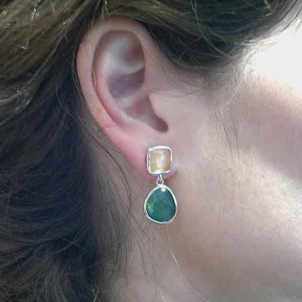 Cat eye earrings