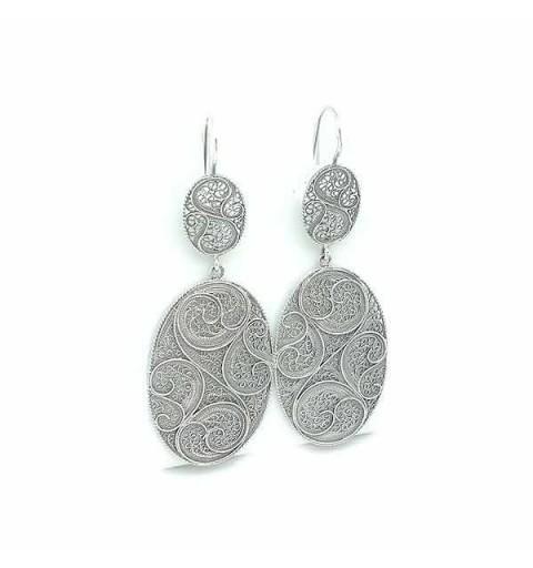 Filigree oval earrings