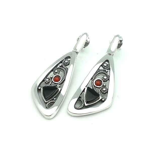 Jet fligree earrings