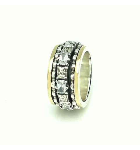 Anti-stress ring silver and gold