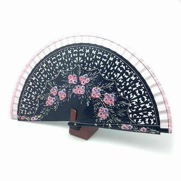 Blue and pink fan