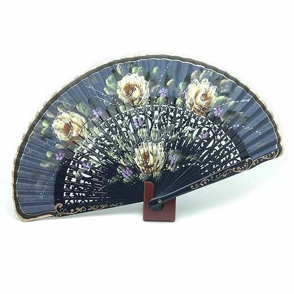 Open blue fan