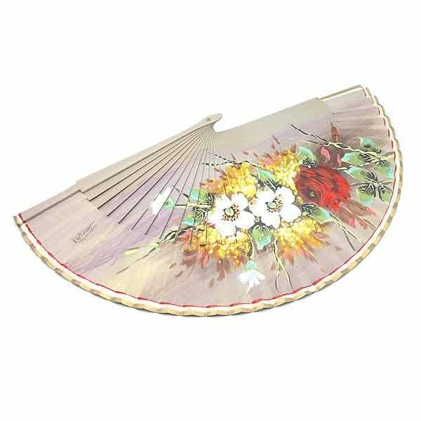 Abanico tostado flores