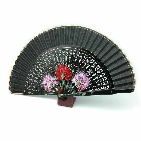 Openwork black fan