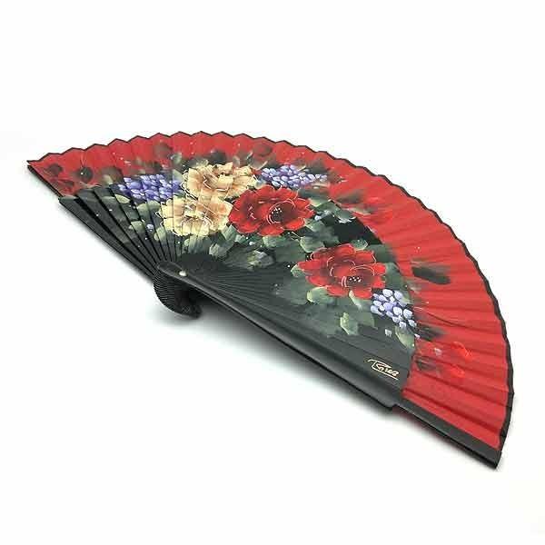 Red fan flowers