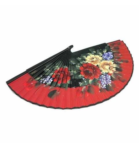 Abanico rojo flores