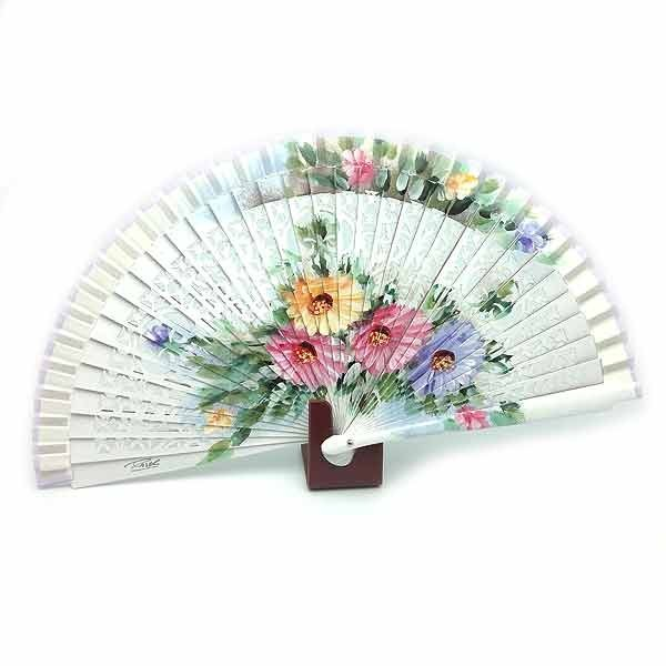 White flowers fan