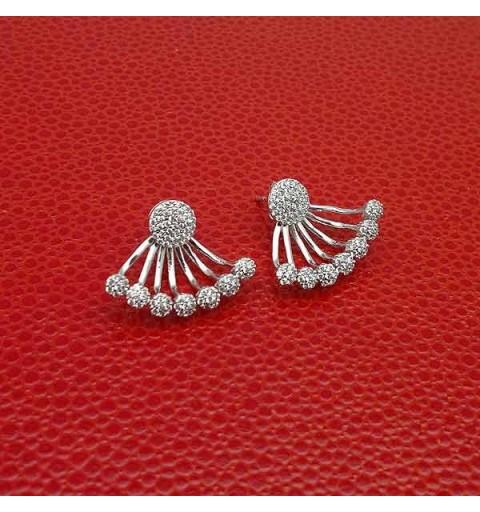 Earrings front & back zirconias
