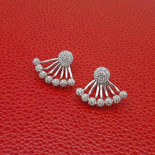 Earrings front & back zirconias