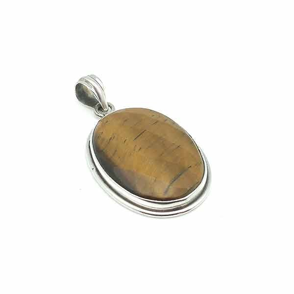 Faceted tiger eye pendant