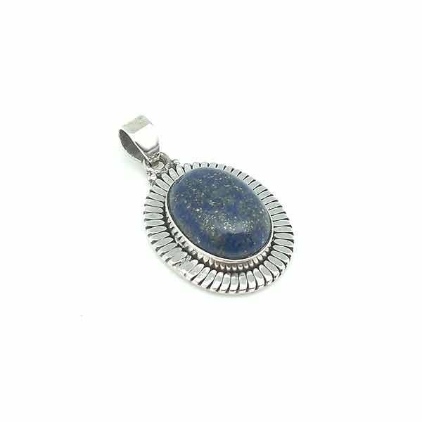 Silver and lapislazuli pendant