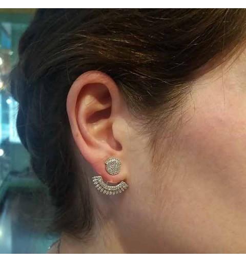 Front & back earrings