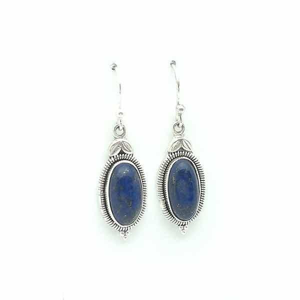 Earrings with lapislazuli