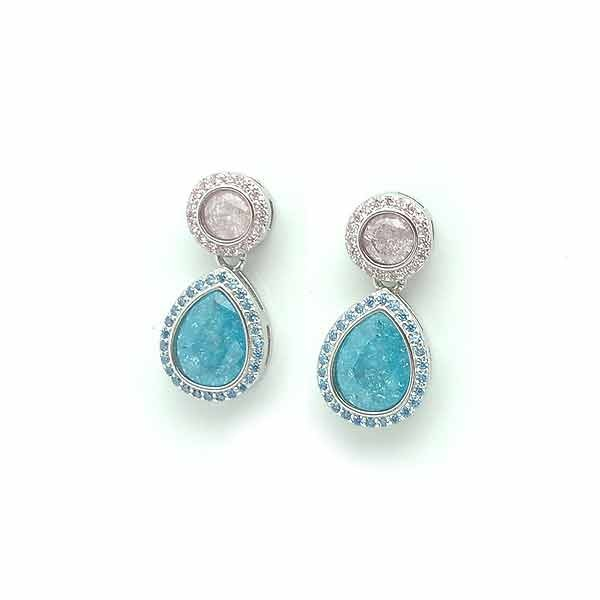 Tear zirconia earrings