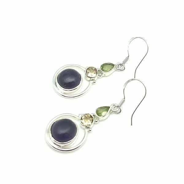 Amethyst long earrings