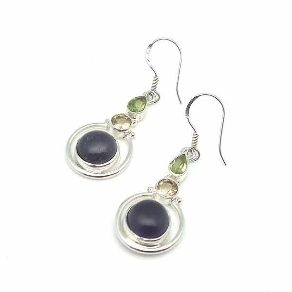 Amethyst long earrings