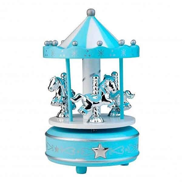 Carrusel con caballitos, azul