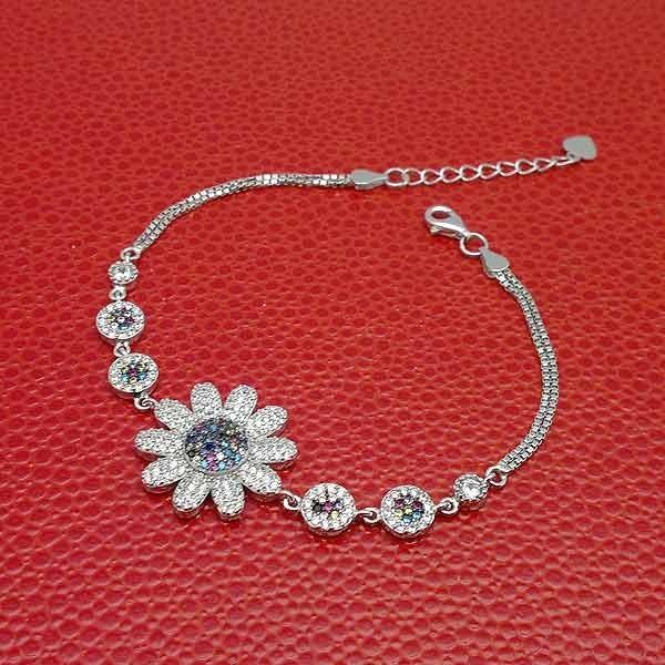 Pulsera flor circonitas
