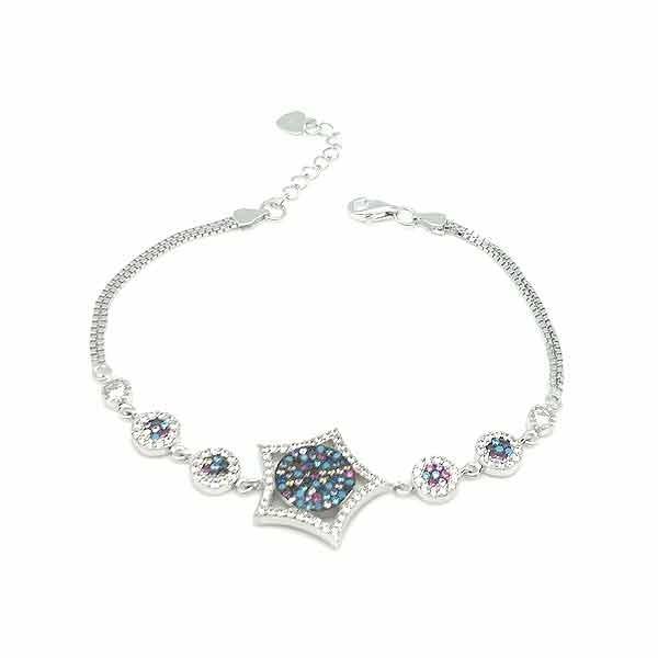 Zirconia star bracelet