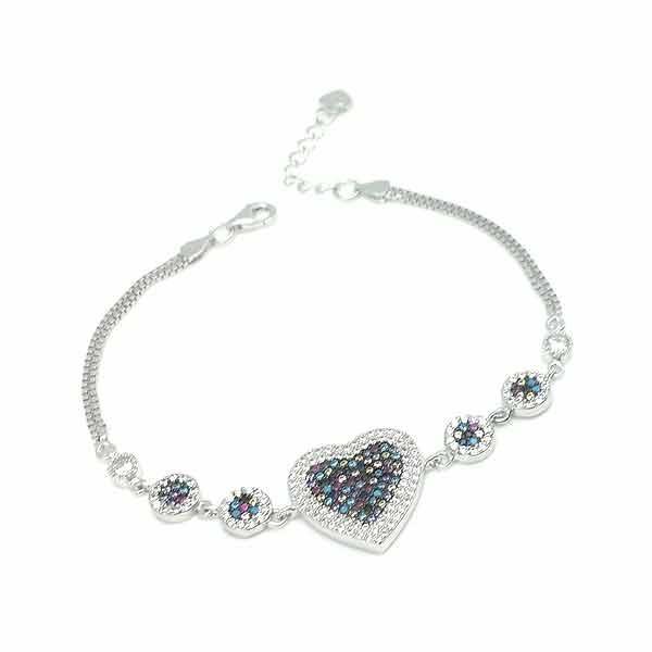Zirconia heart bracelet