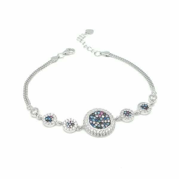 Zirconia circle bracelet