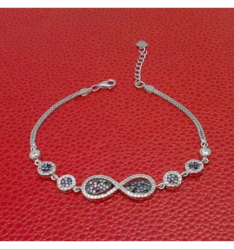 Zirconia infinite bracelet