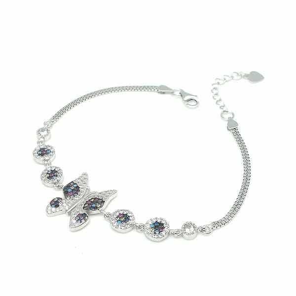 Zirconia butterfly bracelet