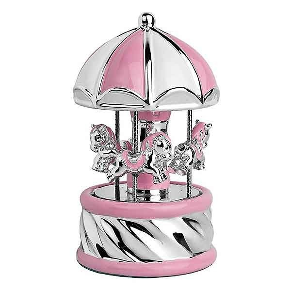 Pink carousel with music and light