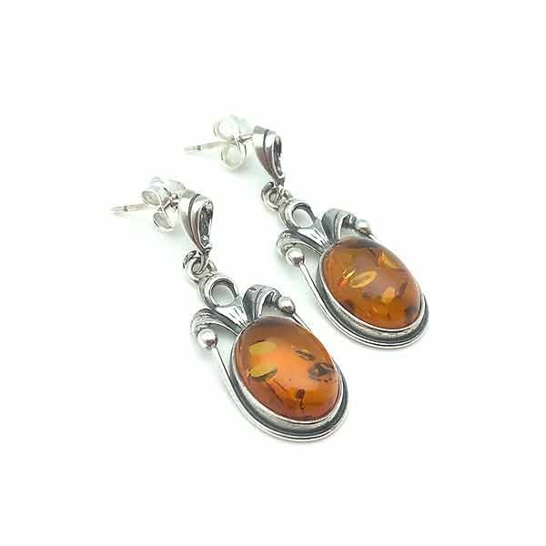Amber earrings