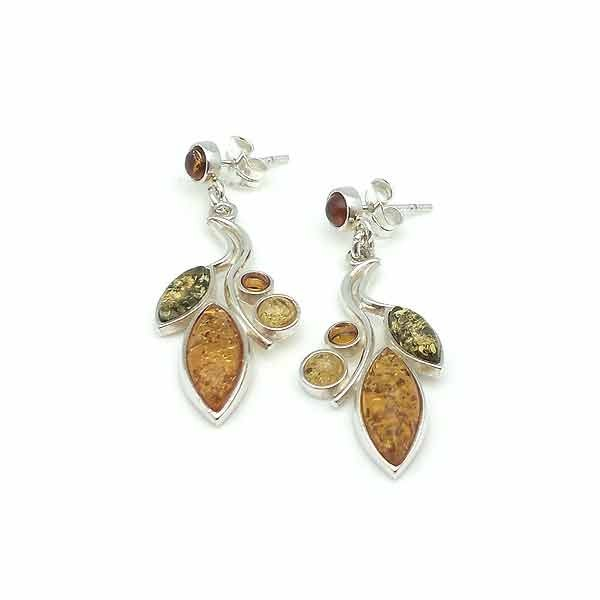 Amber long earrings