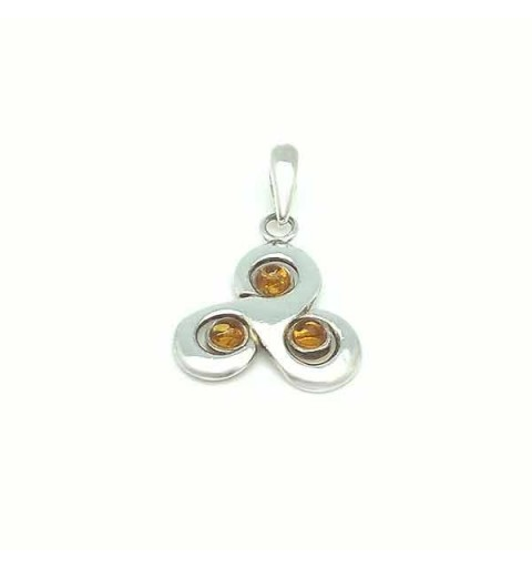 Amber trisquel pendant
