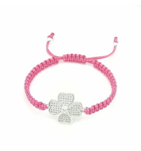 Clover bracelet with zirconia