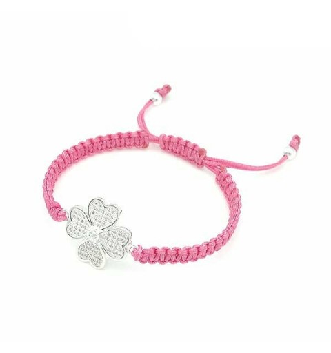 Clover bracelet with zirconia