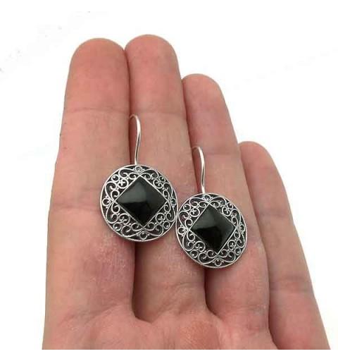 Jet earrings