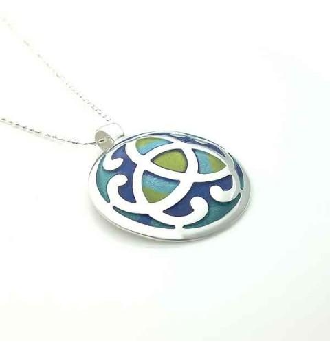 Celtic silver pendant law