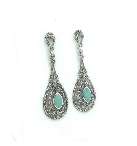 Long turquoise earrings
