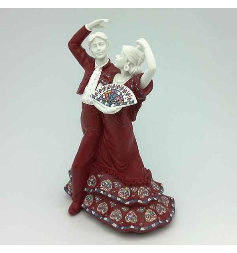 Baile flamenco mediano rojo
