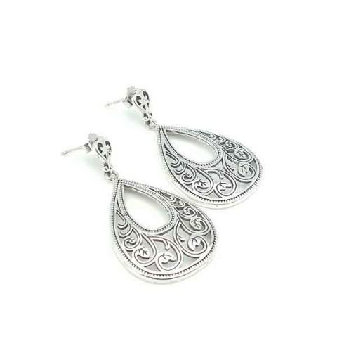 Openwork silver earrings
