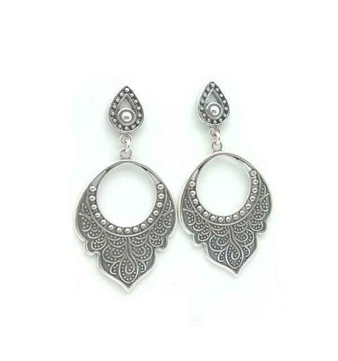 Aged silver earrings