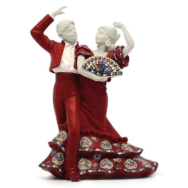 Medium Red Flamenco dancing