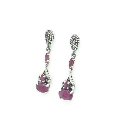 Rubies earrings