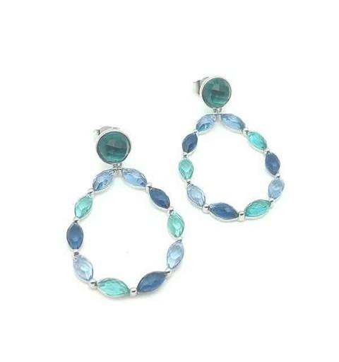 Long zirconias earrings