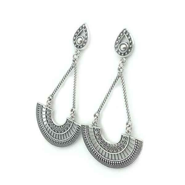 Balinese long earrings