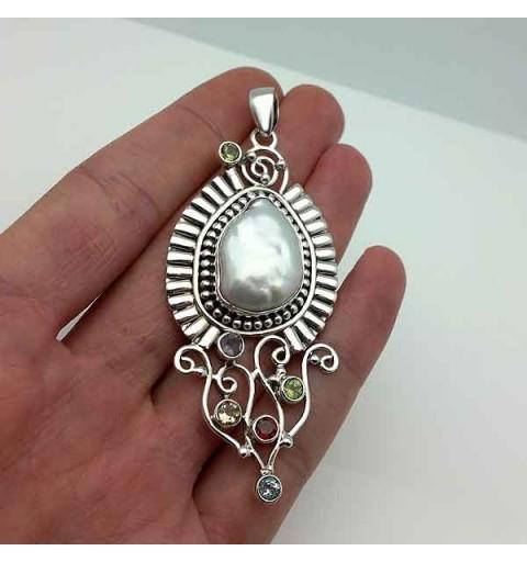 Colgante artesanal perla