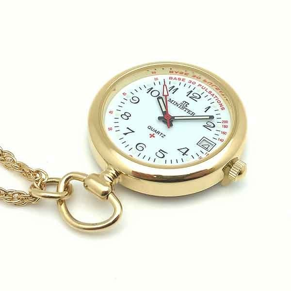 Nurse watch gold plated